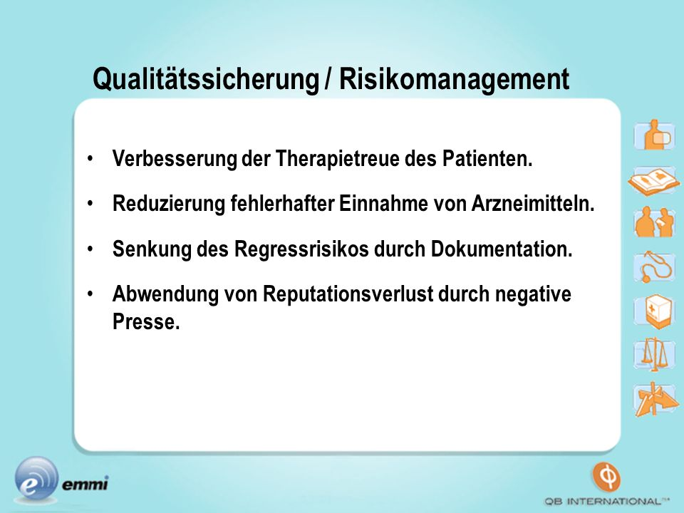 Qualitätssicherung / Risikomanagement