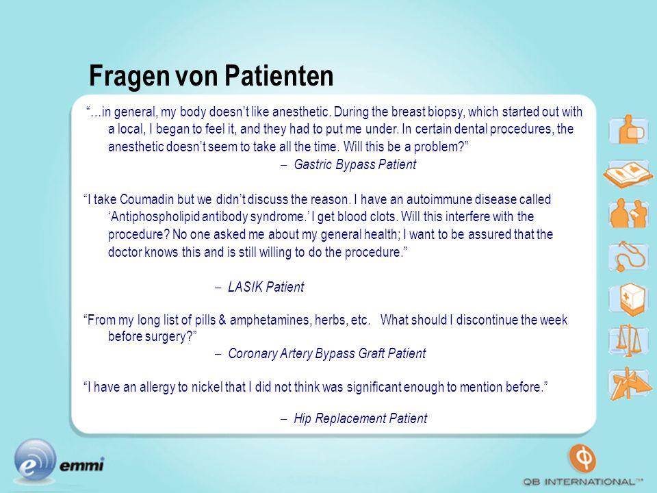 Fragen von Patienten