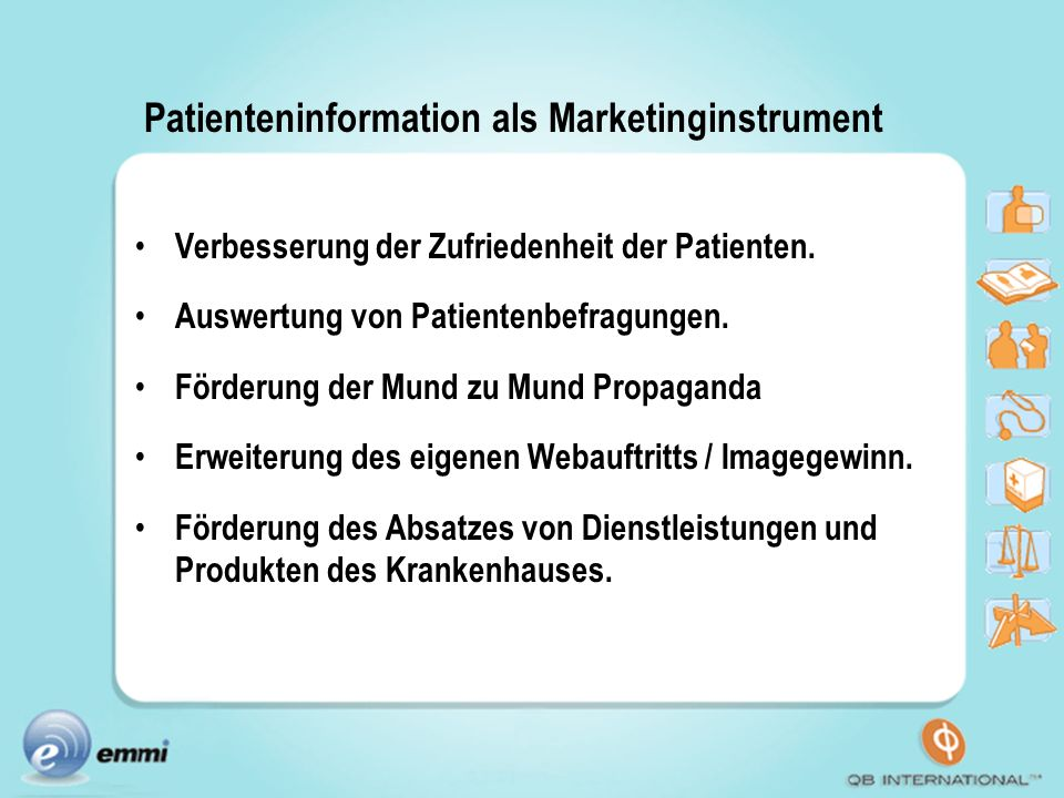 Patienteninformation als Marketinginstrument