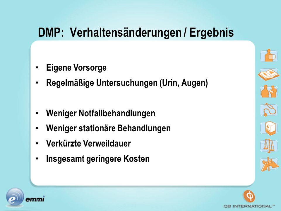 DMP: Verhaltensänderungen / Ergebnis
