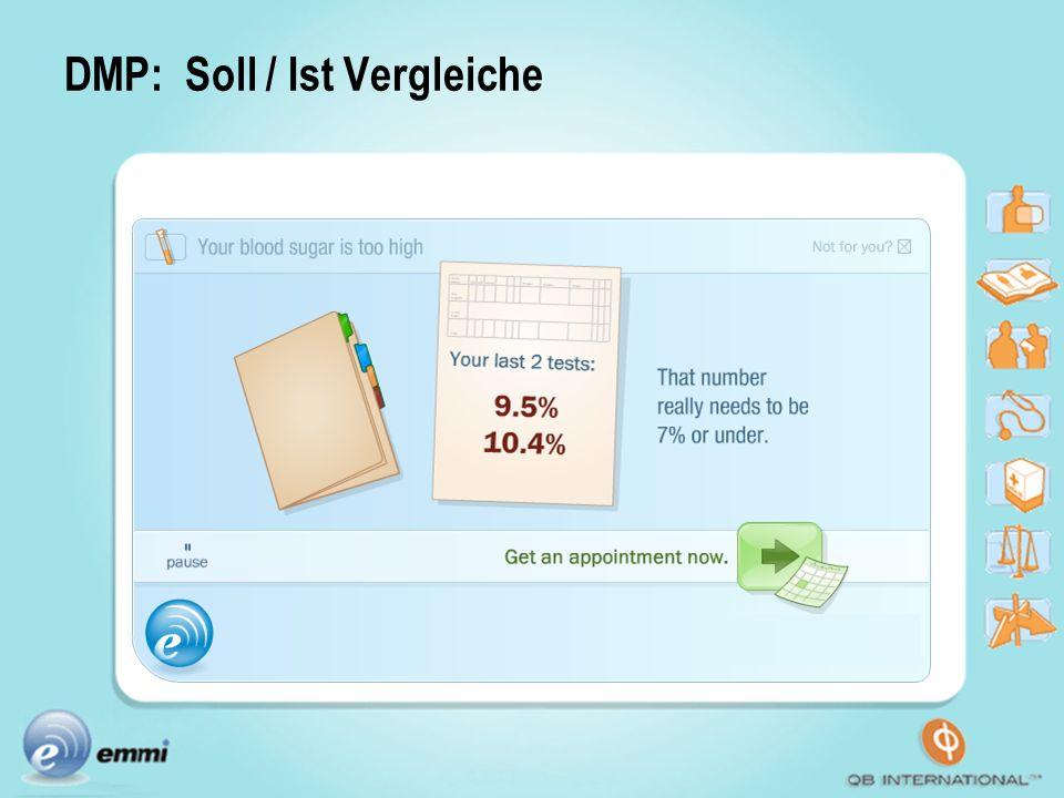 DMP: Soll / Ist Vergleiche