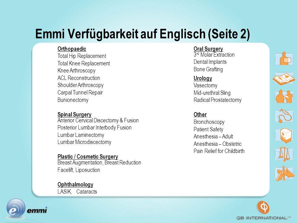 Emmi Verfügbarkeit auf Englisch (Seite 2)