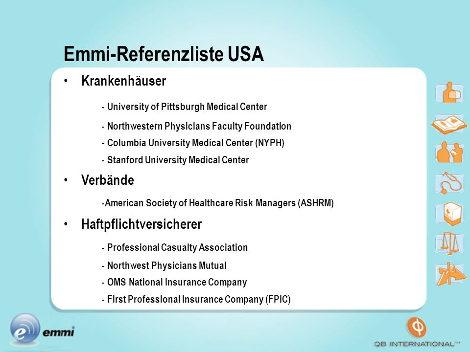 Emmi-Referenzliste USA
