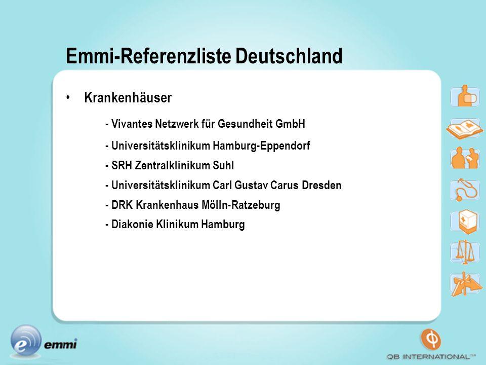 Emmi-Referenzliste Deutschland