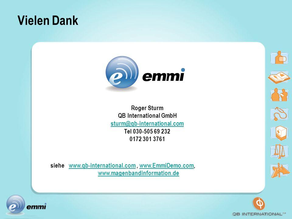 Vielen Dank siehe www.qb-international.com , www.EmmiDemo.com,