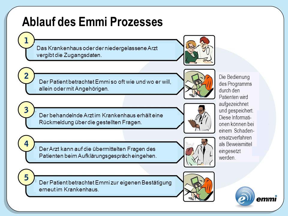 Ablauf des Emmi Prozesses