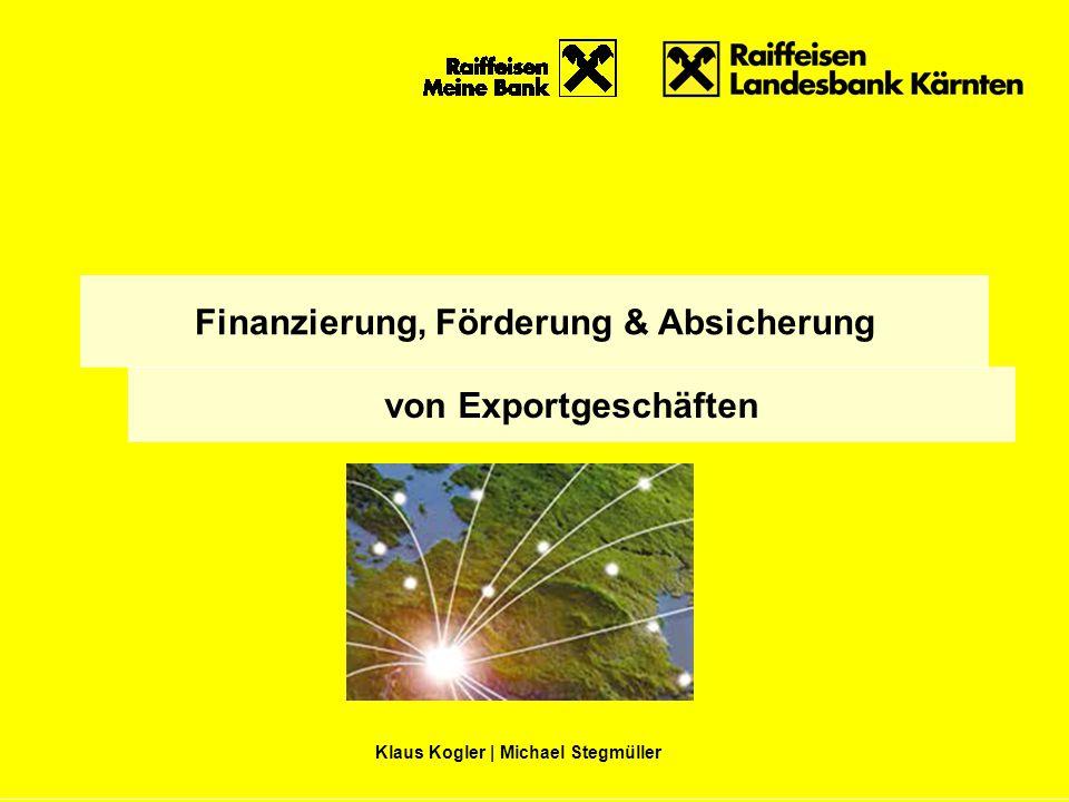 Finanzierung, Förderung & Absicherung von Exportgeschäften