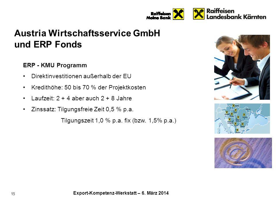 Austria Wirtschaftsservice GmbH und ERP Fonds