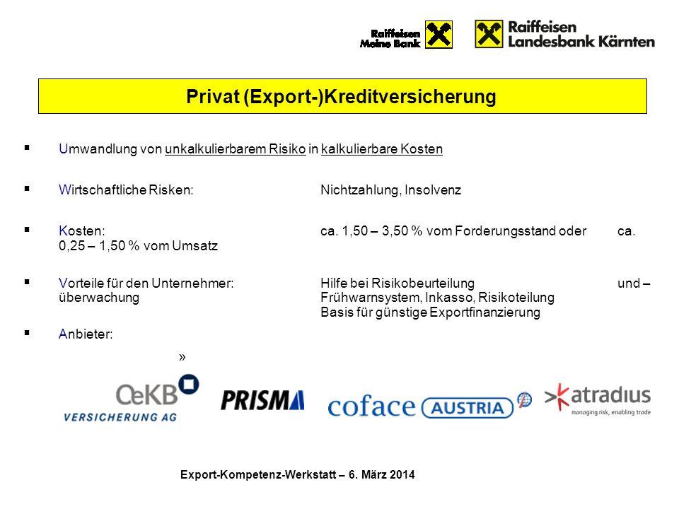 Privat (Export-)Kreditversicherung