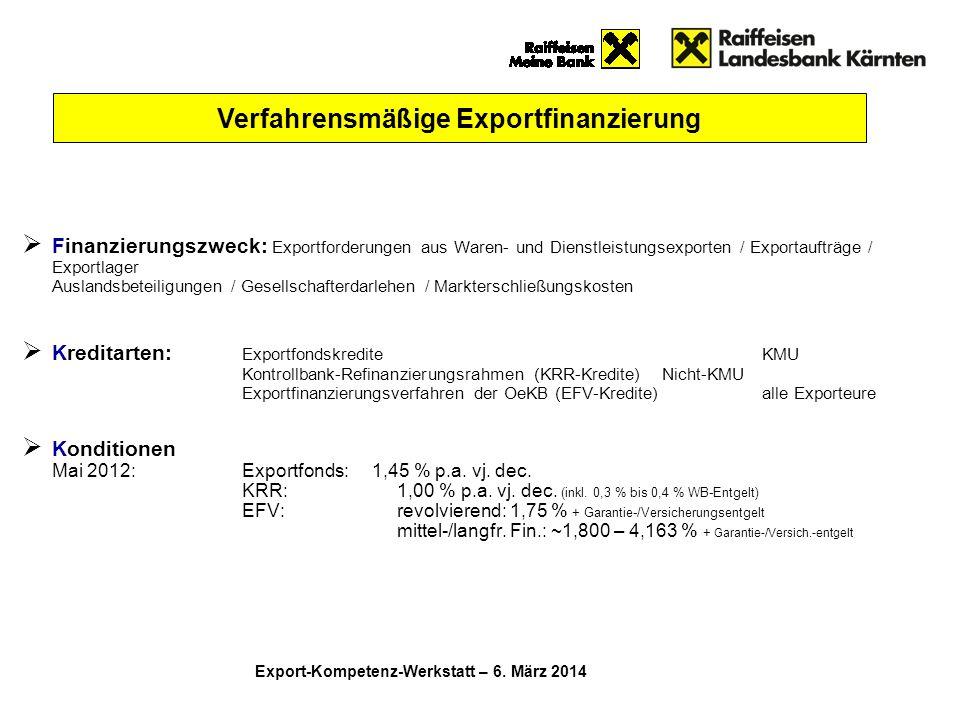Verfahrensmäßige Exportfinanzierung