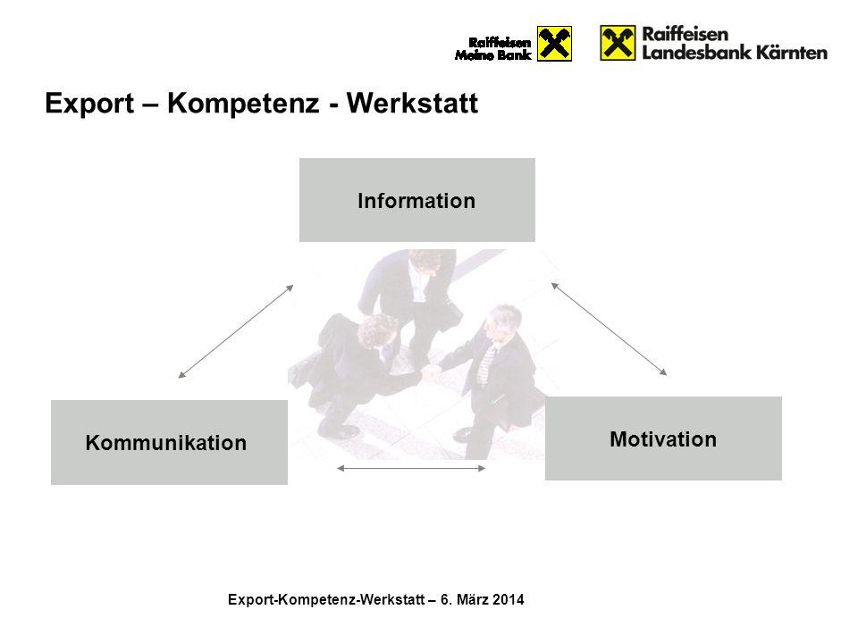 Export – Kompetenz - Werkstatt
