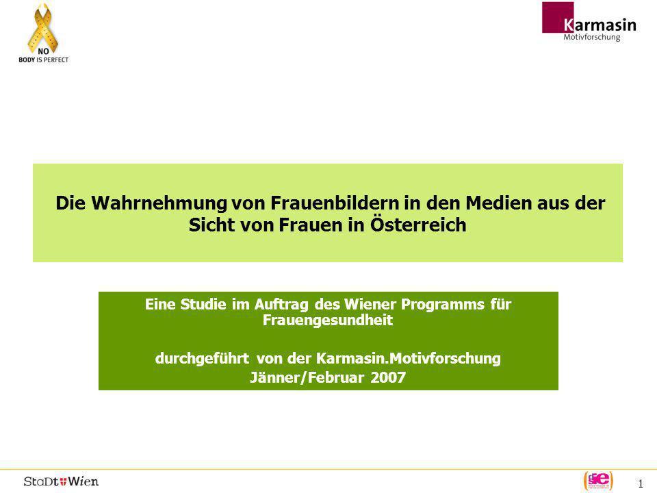 Die Wahrnehmung von Frauenbildern in den Medien aus der Sicht von Frauen in Österreich