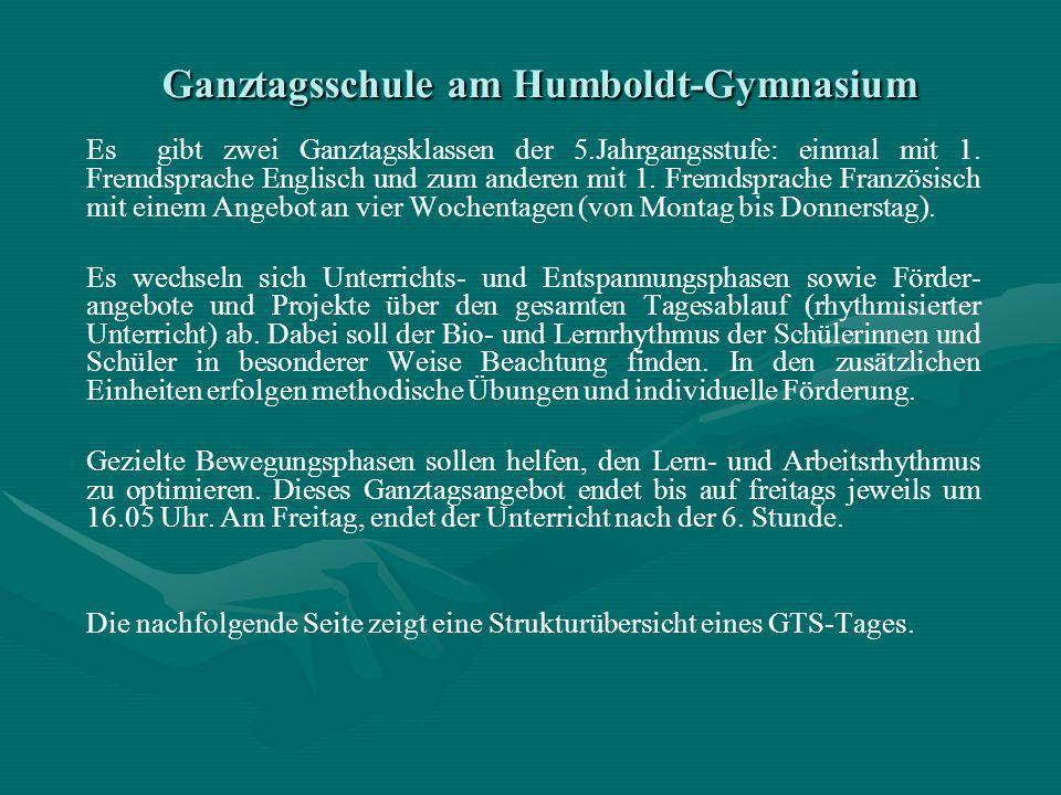 Ganztagsschule am Humboldt-Gymnasium