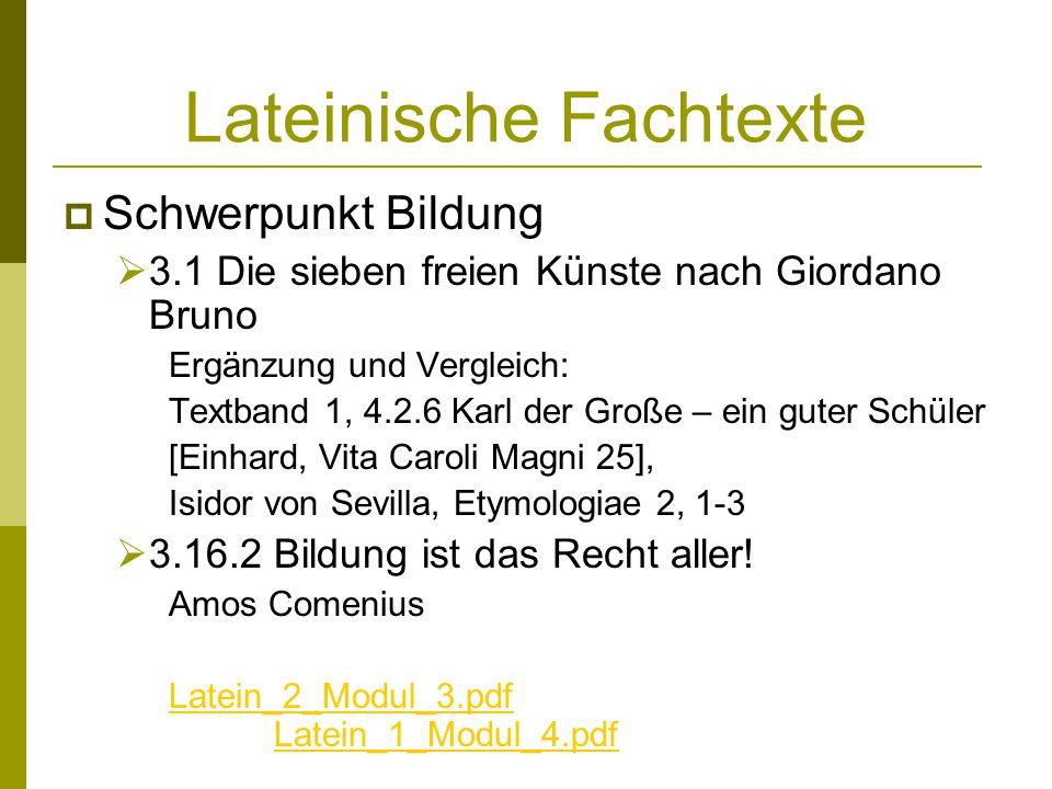Lateinische Fachtexte