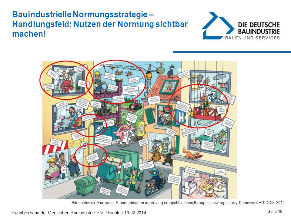 Bauindustrielle Normungsstrategie – Handlungsfeld: Nutzen der Normung sichtbar machen!