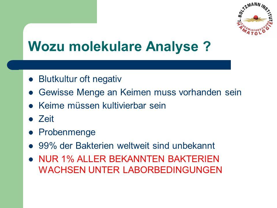 Wozu molekulare Analyse