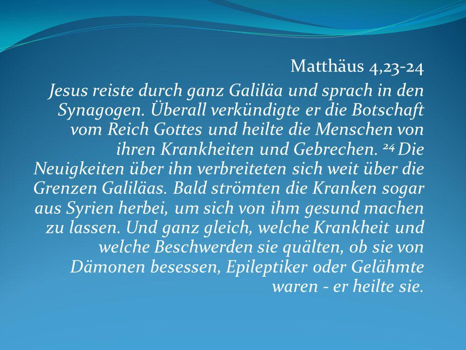 Matthäus 4,23-24