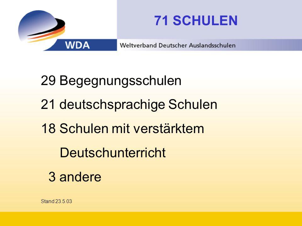 21 deutschsprachige Schulen