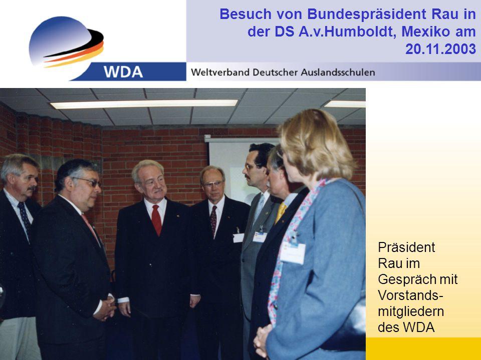 Besuch von Bundespräsident Rau in der DS A. v. Humboldt, Mexiko am 20