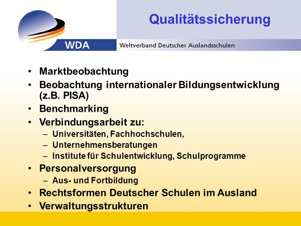 Qualitätssicherung Marktbeobachtung