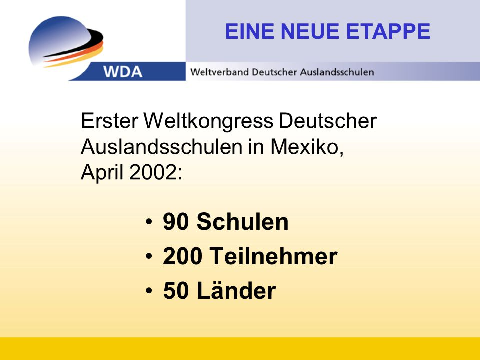 Erster Weltkongress Deutscher Auslandsschulen in Mexiko, April 2002: