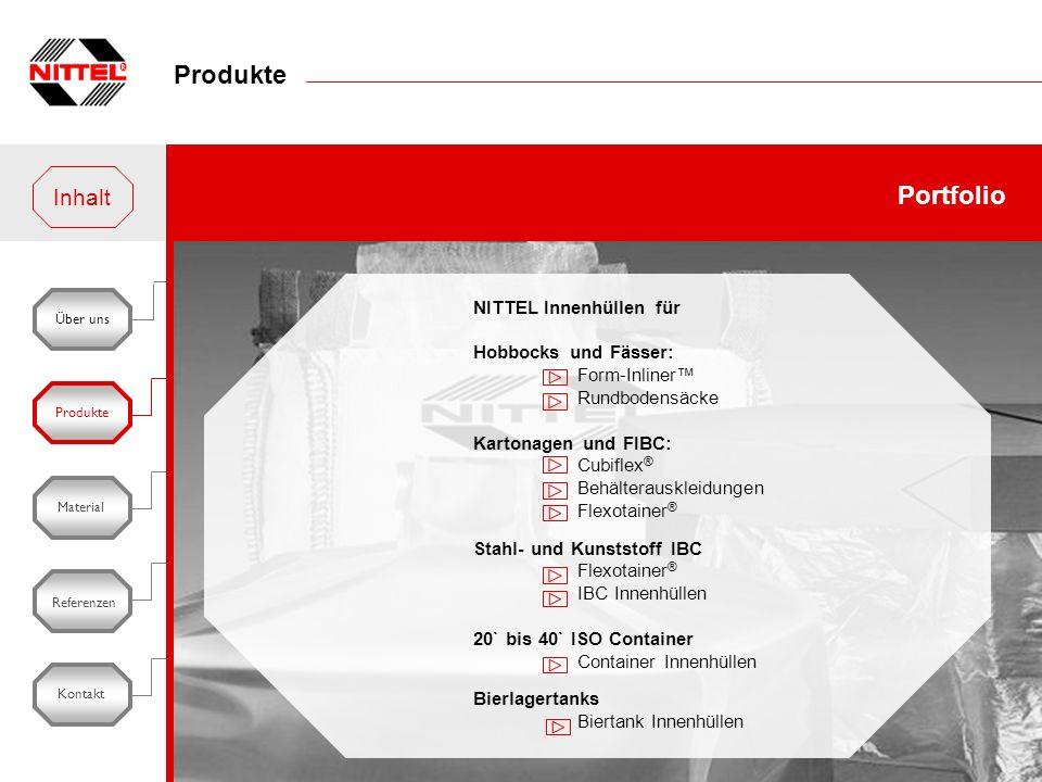 Produkte Portfolio Inhalt NITTEL Innenhüllen für Hobbocks und Fässer: