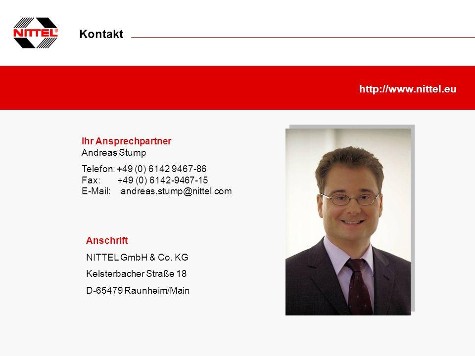 Kontakt http://www.nittel.eu Ihr Ansprechpartner Andreas Stump