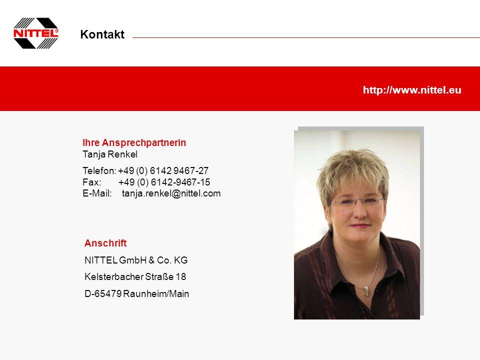 Kontakt http://www.nittel.eu Ihre Ansprechpartnerin Tanja Renkel