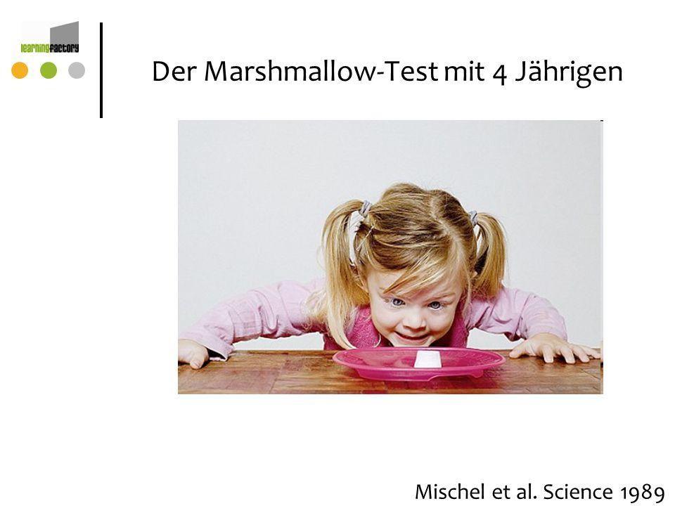 Der Marshmallow-Test mit 4 Jährigen