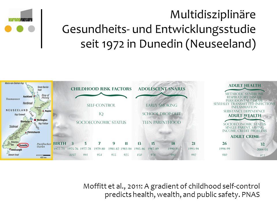 Multidisziplinäre Gesundheits- und Entwicklungsstudie seit 1972 in Dunedin (Neuseeland)