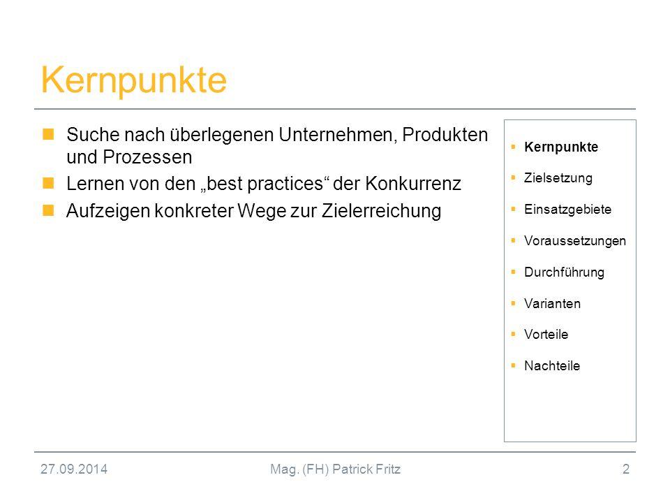 Kernpunkte Suche nach überlegenen Unternehmen, Produkten und Prozessen