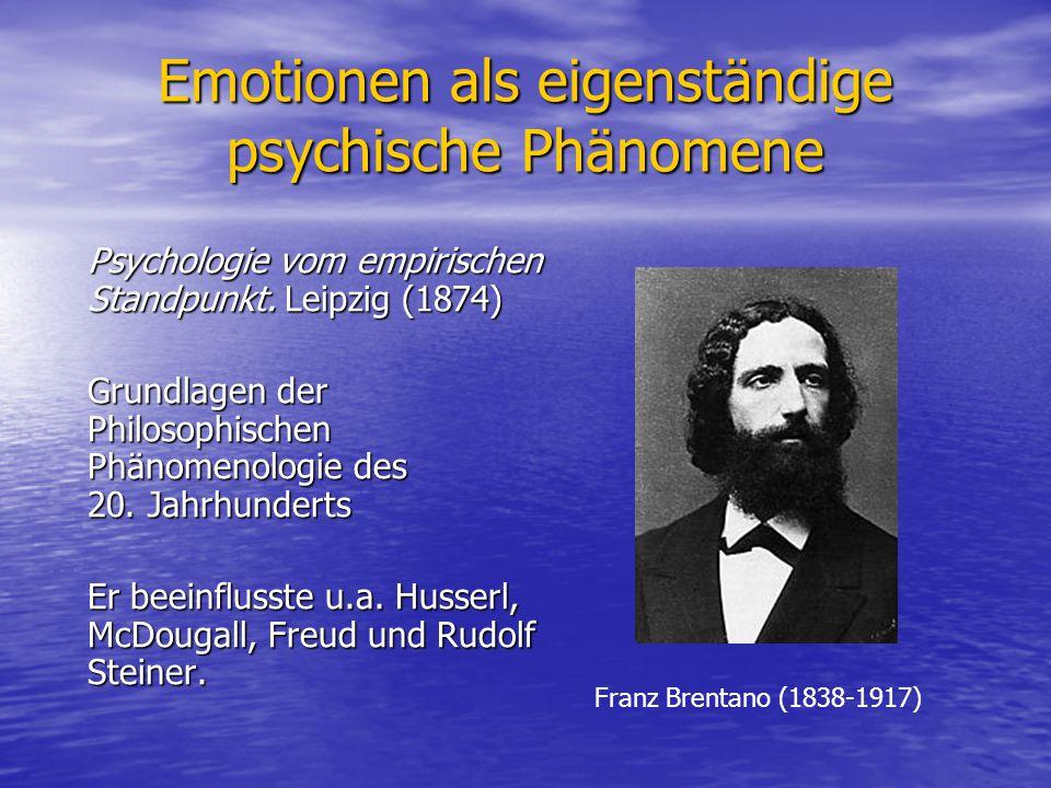 Emotionen als eigenständige psychische Phänomene