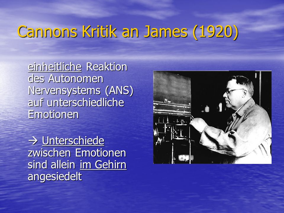 Cannons Kritik an James (1920)