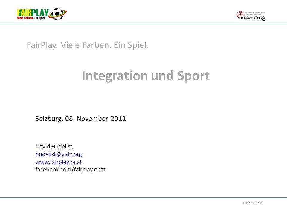 Integration und Sport FairPlay. Viele Farben. Ein Spiel.