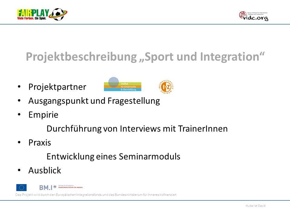 """Projektbeschreibung """"Sport und Integration"""