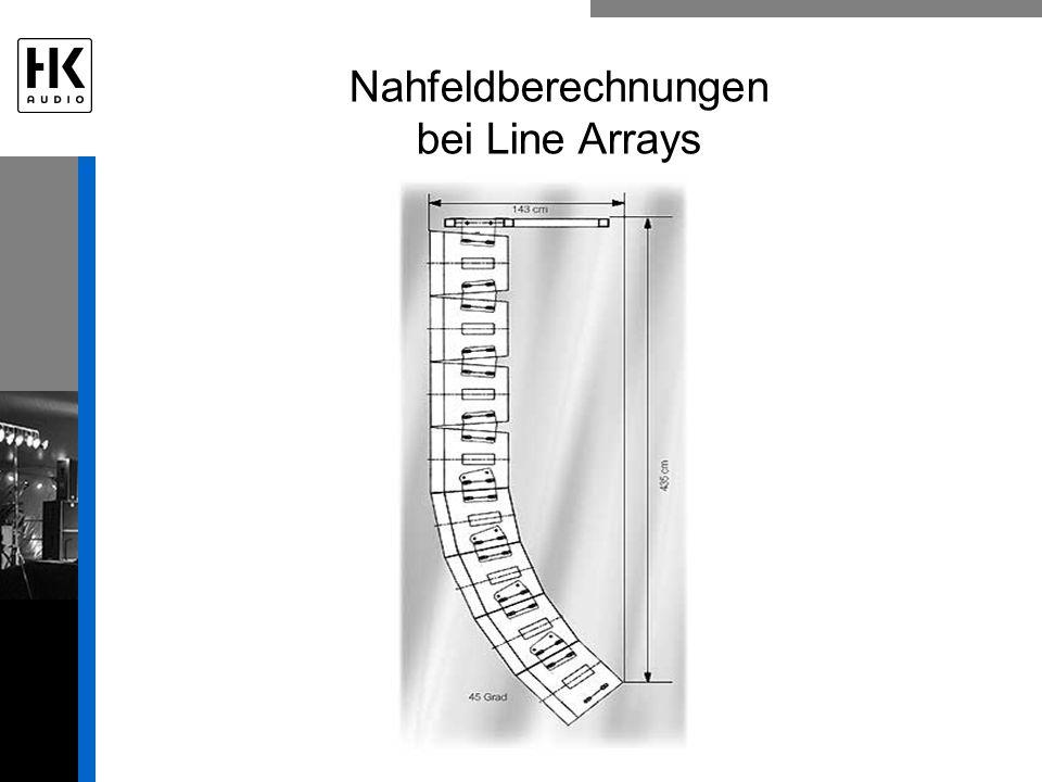 Nahfeldberechnungen bei Line Arrays