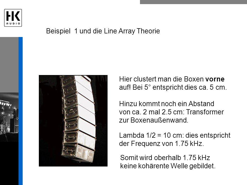 Beispiel 1 und die Line Array Theorie