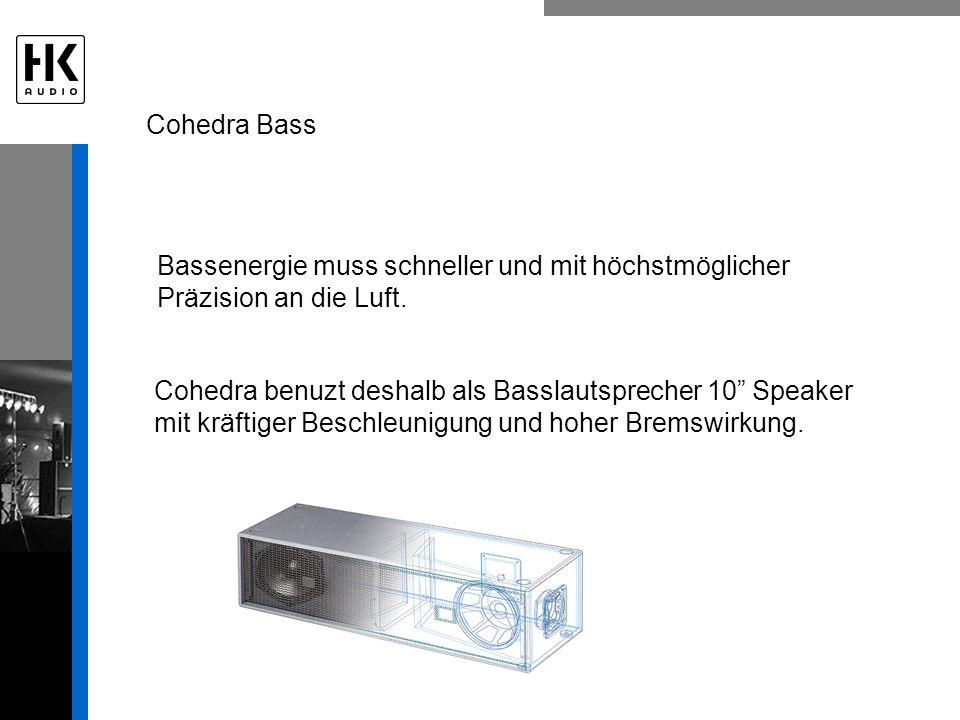 Cohedra Bass Bassenergie muss schneller und mit höchstmöglicher Präzision an die Luft.