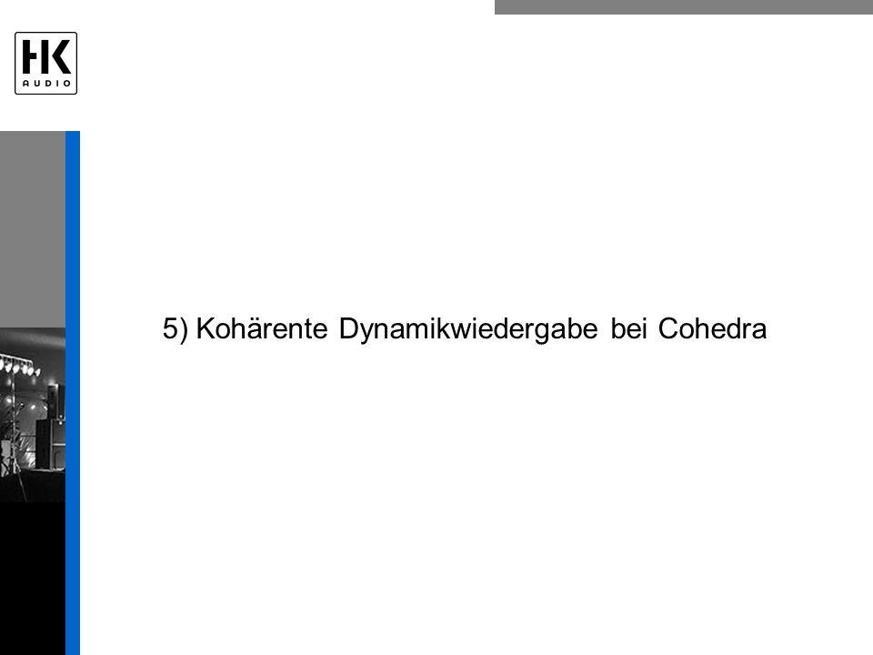 5) Kohärente Dynamikwiedergabe bei Cohedra