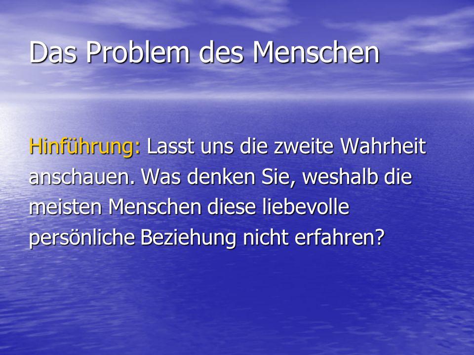 Das Problem des Menschen