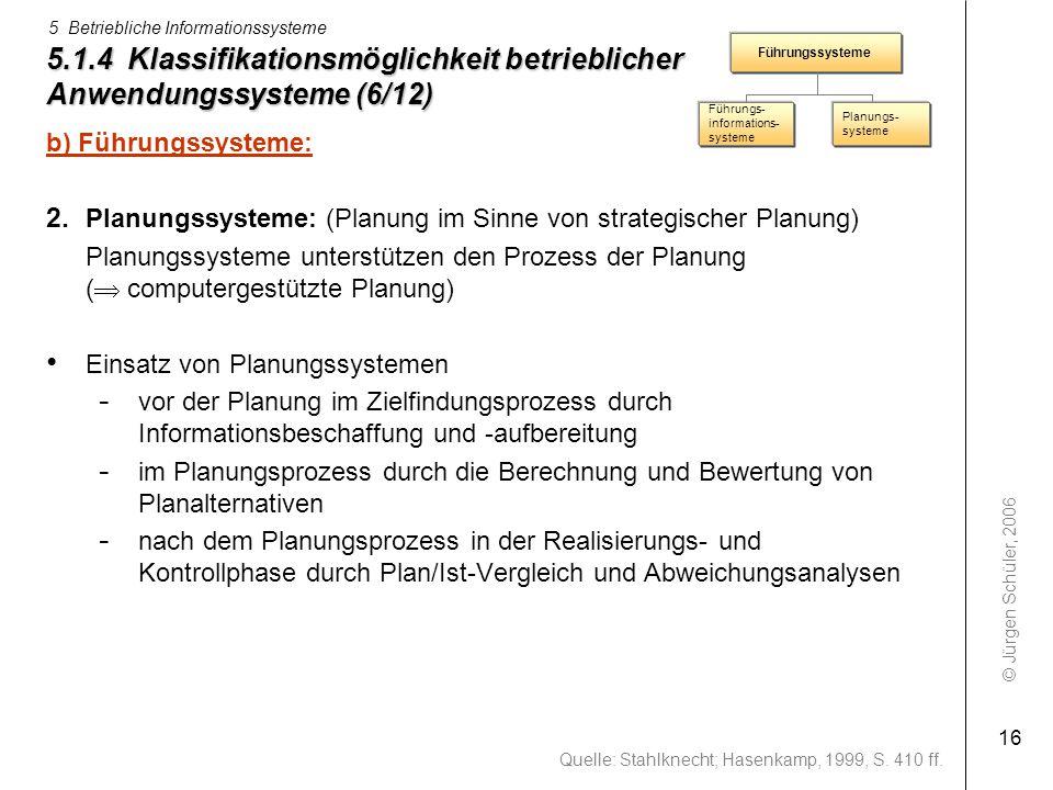 5.1.4 Klassifikationsmöglichkeit betrieblicher Anwendungssysteme (6/12)