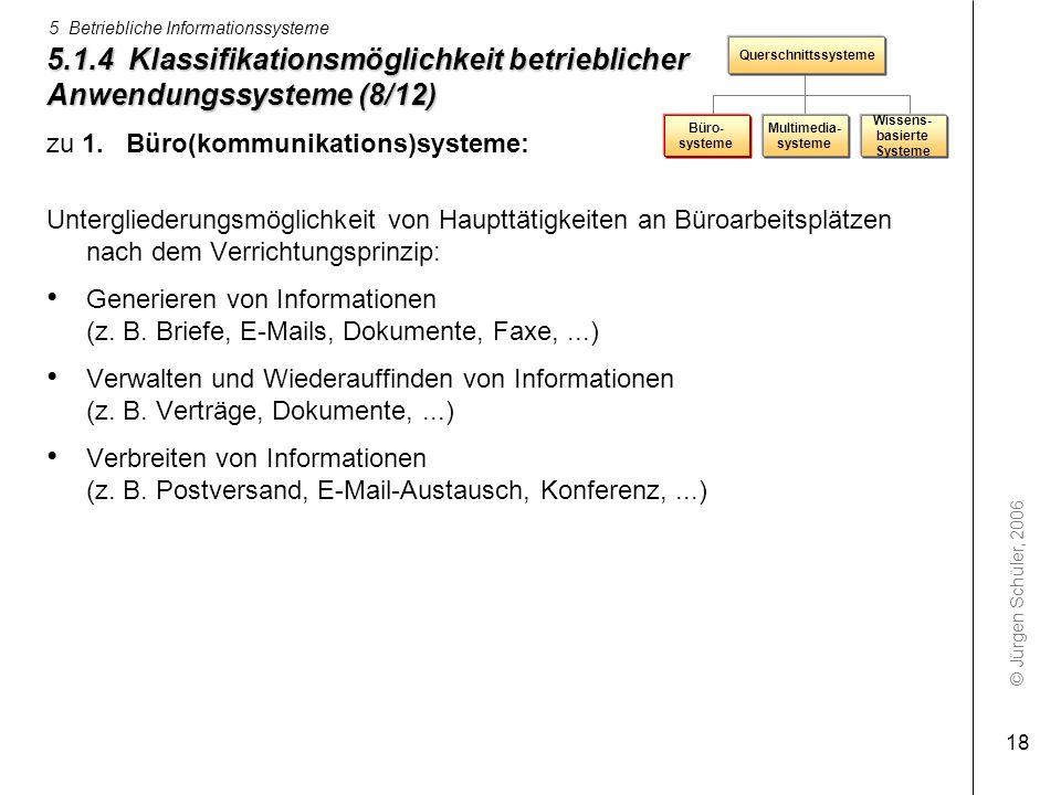 5.1.4 Klassifikationsmöglichkeit betrieblicher Anwendungssysteme (8/12)