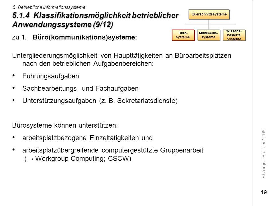 5.1.4 Klassifikationsmöglichkeit betrieblicher Anwendungssysteme (9/12)