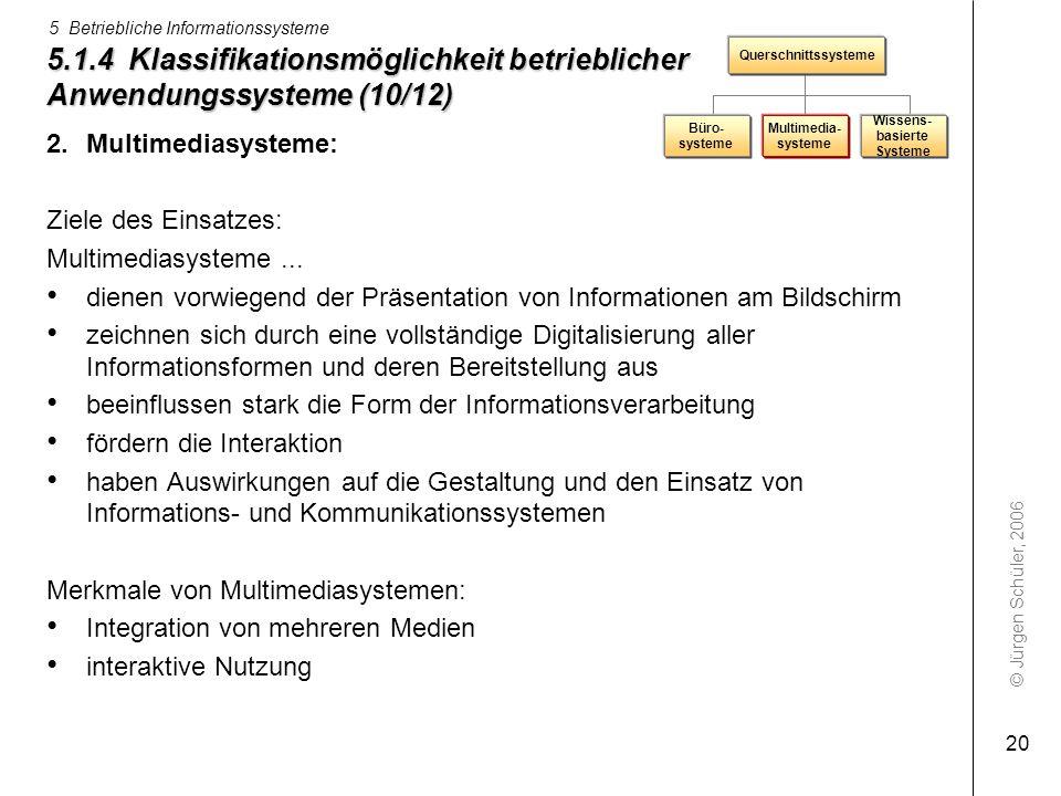 5.1.4 Klassifikationsmöglichkeit betrieblicher Anwendungssysteme (10/12)