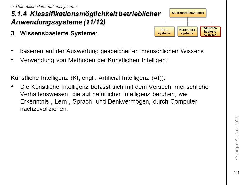 5.1.4 Klassifikationsmöglichkeit betrieblicher Anwendungssysteme (11/12)