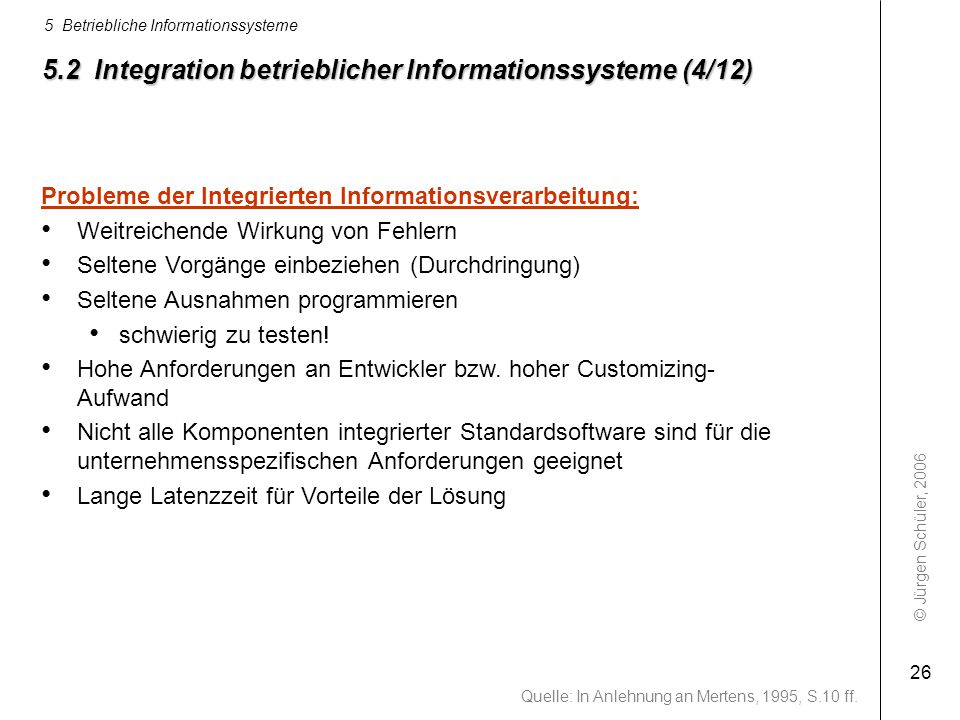 5.2 Integration betrieblicher Informationssysteme (4/12)