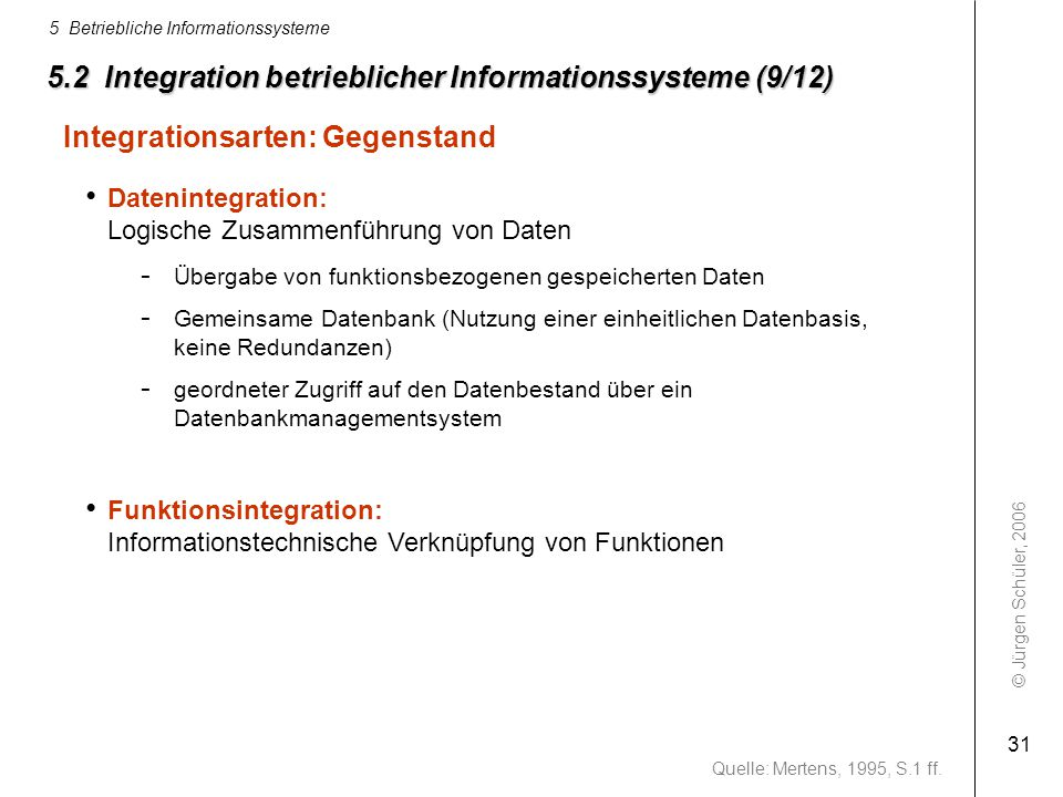 5.2 Integration betrieblicher Informationssysteme (9/12)