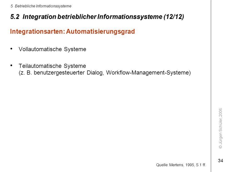 5.2 Integration betrieblicher Informationssysteme (12/12)