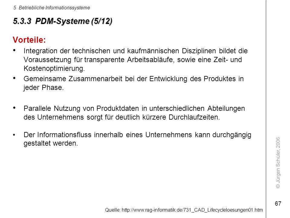 5.3.3 PDM-Systeme (5/12) Vorteile: