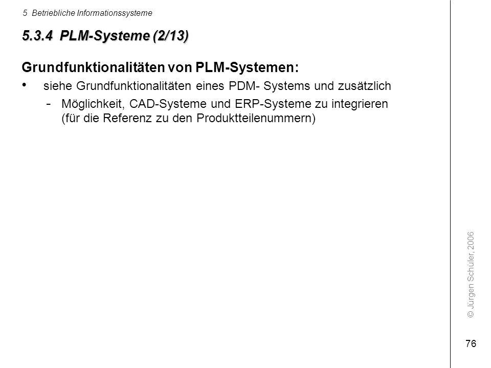 Grundfunktionalitäten von PLM-Systemen: